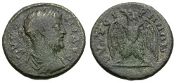 Ancient Coins - Commodus.  Lydia. Thyateira Æ21 / Eagle