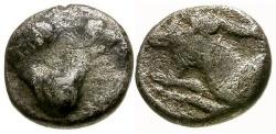 Ancient Coins - F/F Caria, Halikarnassos AR Obol / Pegasus / Goat