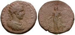 Ancient Coins - Elagabalus (AD 218-222).  Moesia Inferior. Nikopolis ad Istrum Æ27 / Herakles