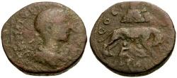 Ancient Coins - Philip II, Judaea, Samaria Neapolis Æ26 / Lindgren Plate Coin