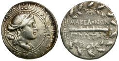 Ancient Coins - Macedon under Roman rule. First Meris AR Tetradrachm / Artemis
