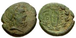 Ancient Coins - VF/VF Lydia Philadelphia Æ19 / Jacob Hirsch Collection