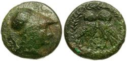 Ancient Coins - Attica. Athens Æ14 / Two Owls