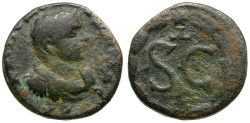 Ancient Coins - Diadumenian. Seleucis and Pieria. Antiochia ad Orontem Æ18 / SC in Wreath