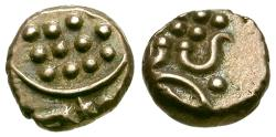 Ancient Coins - India. Travancore Chakram Debased Fanam