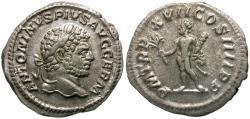 Ancient Coins - Caracalla (AD 198-217) AR Denarius / Hercules