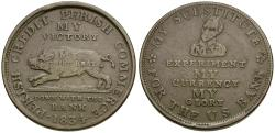 Us Coins - Hard Times copper Token / Running Boar