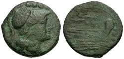 Ancient Coins - 211-208 BC - Roman Republic Æ Triens / Caduceus