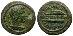 Ancient Coins - Lydia. Hypaepa. Pseudo-autonomous. Athenodorus, magistrate Æ15 / Herakles