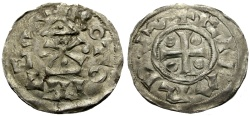 World Coins - France, Norman Kings, Richard I the Fearless Rouen mint AR Denier