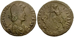 Ancient Coins - Constantius II Æ Centenionalis / Fallen Horseman