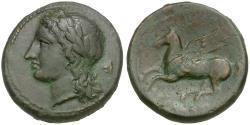 Ancient Coins - Sicily. Syracuse. Timoleon (344-337 BC). Third Democracy Æ litra