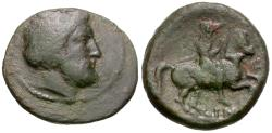 Ancient Coins - Thessaly. Krannon Æ18 / Horseman