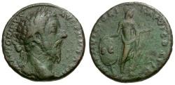 Ancient Coins - Marcus Aurelius Æ AS / Mars