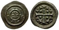 World Coins - Hungary. Stephen II AR Denar / Cross