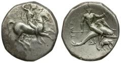 Ancient Coins - Calabria. Tarentum AR Nomos / Elephant