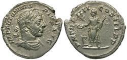Ancient Coins - Elagabalus (AD 218-222) AR Denarius / Elagabalus Sacrificing