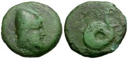 Ancient Coins - Thessaly. Homolion Æ17 / Philoktetes