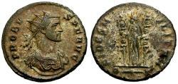 Ancient Coins - EF/EF Probus Silvered Antoninianus / Fides