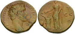 Ancient Coins - Antoninus Pius (AD 138-161) Æ Dupondius / Salus