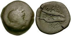 Ancient Coins - Sarmatia. Olbia Æ20 / Eagle on Dolphin