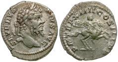 Ancient Coins - Septimius Severus (AD 193-211) AR Denarius / Septimius on Horseback