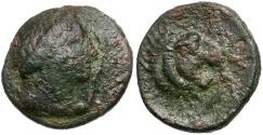 Ancient Coins - Thessaly. Pherai Æ Chalkous / Ennodia and Lion Fountain