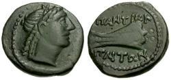 Ancient Coins - VF/aVF Bosporian Kings, Asander, Pantikapaion Æ20 / Apollo / Prow