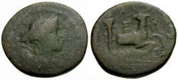 Ancient Coins - F/gF Ionia, Ephesos Æ22 / Artemis / Stag