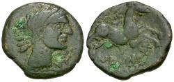 Ancient Coins - Spain. Iberia. Western Herault. Neronken Æ24 / Bull