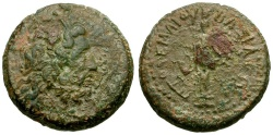 Ancient Coins - Ptolemaic Kings of Egypt. Ptolemy III Euergetes. Cyprus Mint Æ Hemiobol / Aphrodite
