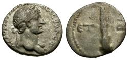 Ancient Coins - Hadrian. Cappadocia. Caesarea AR Hemidrachm / Club