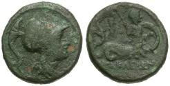 Ancient Coins - Lucania.  Herakleia Æ14 / Marine Deity