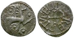 World Coins - England. Anglo-Saxon Kings of Northumbria. Eadberht (737-758) AR Sceat / Animal