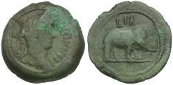 Ancient Coins - Trajan (AD 98-117). Egypt. Alexandria Æ Obol / Elephant