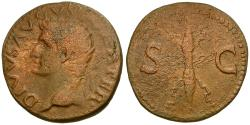 Ancient Coins - Divus Augustus Æ AS / Thunderbolt.