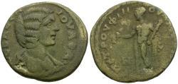Ancient Coins - Julia Domna. Ionia. Smyrna Æ Diassarion / Herakles
