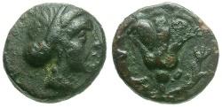 Ancient Coins - Caria. Rhodos Æ10 / Rose