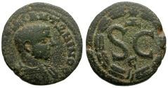 Ancient Coins - Diadumenian. Seleucis and Pieria. Antiochia ad Orontem Æ18 / Wreath