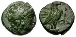 Ancient Coins - EF/EF Troas, Abydos Æ11 / Apollo / Eagle
