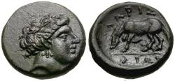 Ancient Coins - Thessaly. Larissa Æ14 / Horse