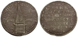 World Coins - German States. Duchy of Saxony Potin 44mm Medal / Famine