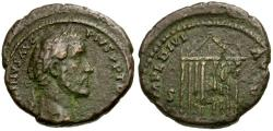 Ancient Coins - Antoninus Pius Æ AS / Temple