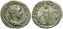 Ancient Coins - Gordian III (AD 238-244) AR Denarius / Laetitia