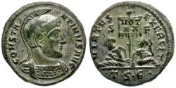 Ancient Coins - Constantine I the Great Silvered Æ Follis / Captives