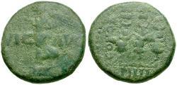 Ancient Coins - Caesarea Philippi Æ18 / Victory