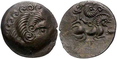 Ancient Coins - EF/EF Celtic Coriosoilte Tribe Billon Stater / Old Collection!