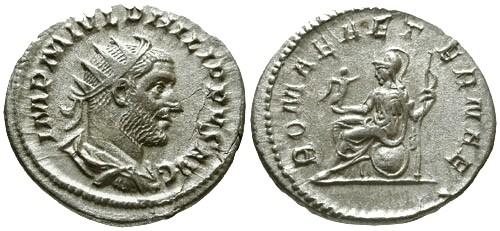 Ancient Coins - VF/aVF Philip I AR Antoninianus / Roma