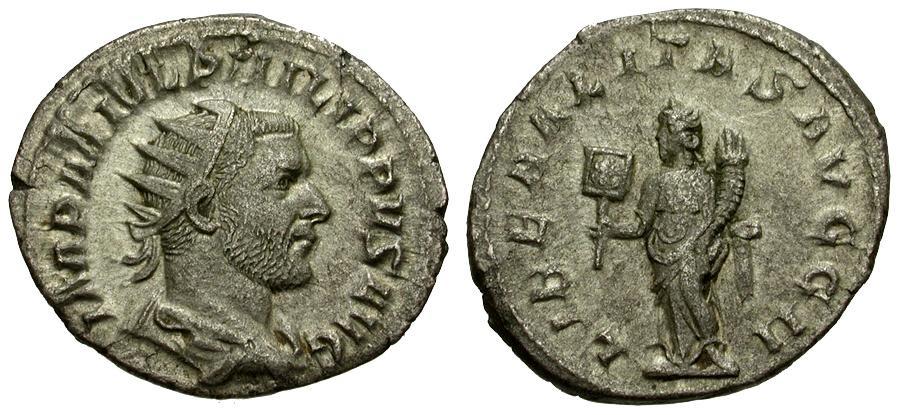 Ancient Coins - Philip I AR Antoninianus / Liberalitas