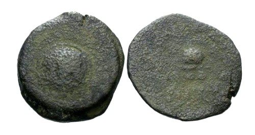 Ancient Coins - F/F Herod the Great 4 Prutot / Helmet and Shield